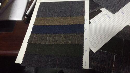 Custom 3PCS Men/'s British Wool Blue Tweed Suit Jacket Vest Pants 38 40 42 44 46