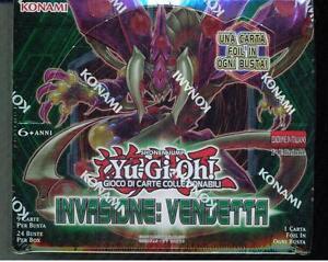 Yugioh-BOX-INVASIONE-VENDETTA-Originale-Nuovo-SIgillato-Box-da-24-buste