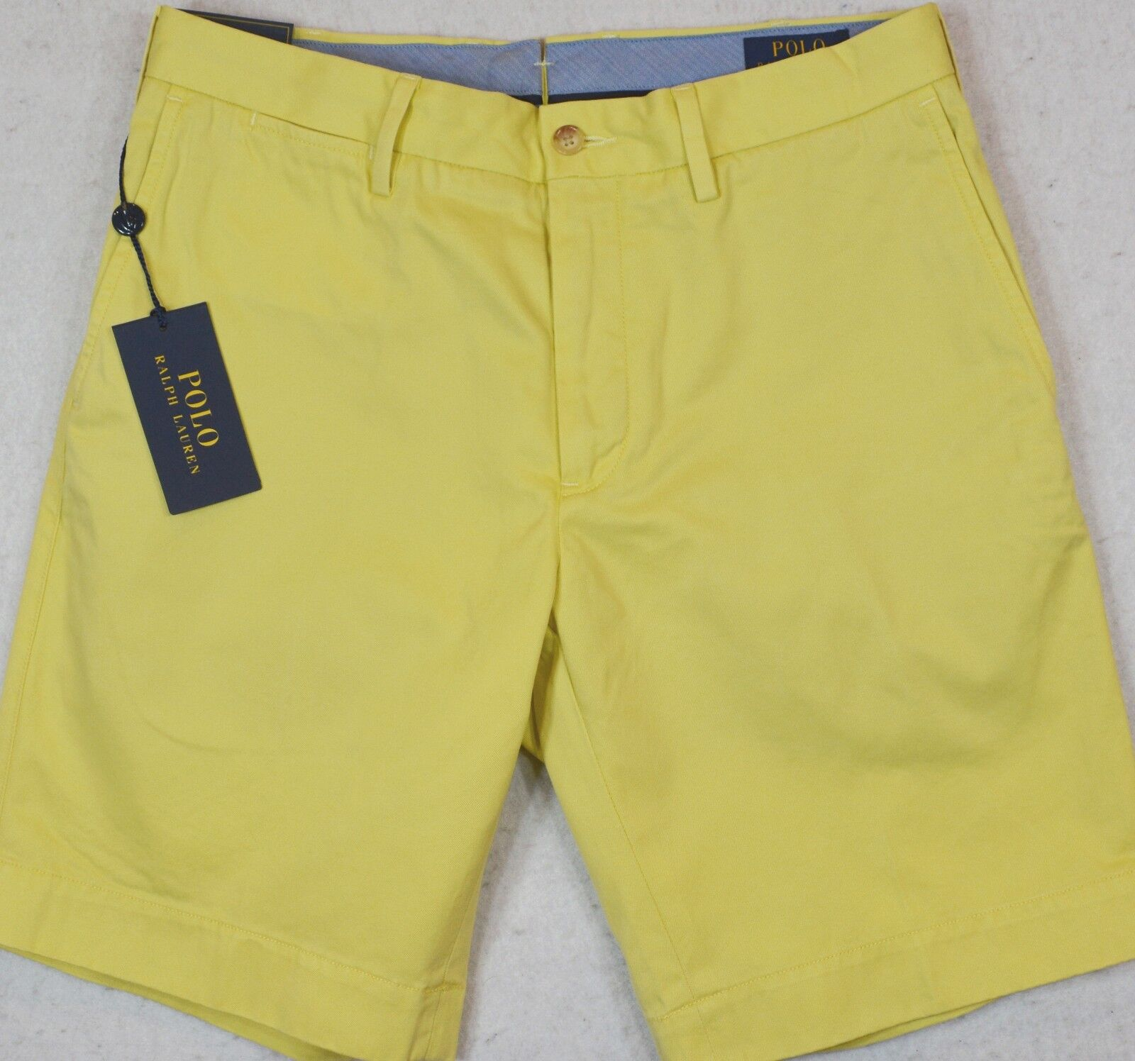 Polo Ralph Lauren Shorts Pima Cotton Classic Fit 9  Yellow 30 33 34 NWT