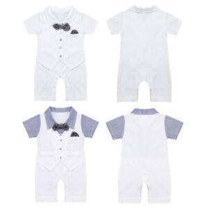 Baby Jungen Anzug 56 62 68 Strampler Polo Gentleman Einteiler langarm