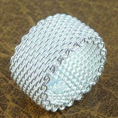 Women's Stylish 925 Sterling Silver Ring Weeding Rings For Lady Size 6/7/8/9 NEW