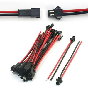 10 Set 2Pin SM Male & Female Connector Cable Wire Terminal Connect ...