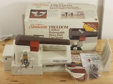 Vtg Sunbeam Freedom Cordless Rechargeable Heavy Duty Can Opener 05256 Almond