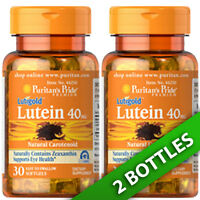 Puritan's Pride Lutigold Lutein 40 Mg With Zeaxanthin 2x 30 Softgels