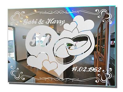 Motivspiegel Goldene Hochzeit Hochzeitsgeschenk Wandschmuck Wedding Gift Love