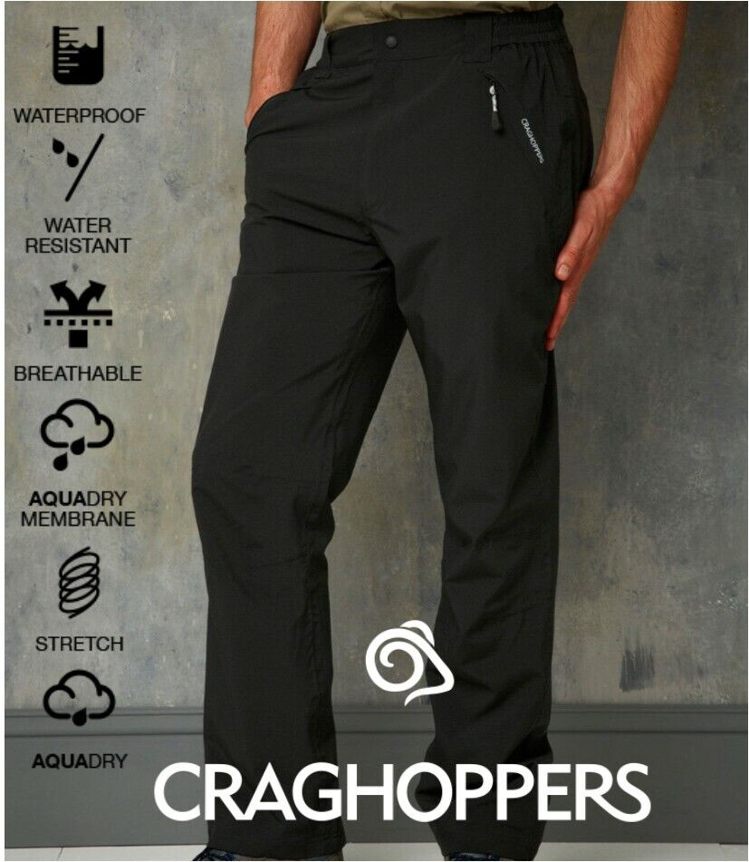 Craghoppers Stefan Impermeable Pantalones Transpirable Membrana-Stretch-Aquadry