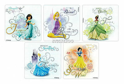 10 Glitter Disney Princess Stickers Kid Party Goody Loot Bag Favor Filler Supply