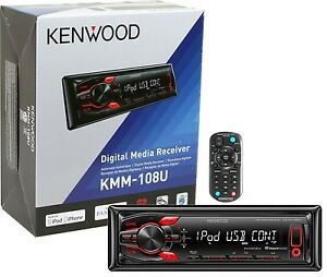 Kenwood-KMM-108U-Digital-Media-Receiver-Aux-USB-iHeartRadio-Pandora-KMM108U-B