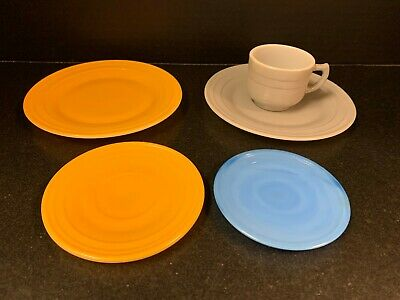 Blue Glass Hazel Atlas Children\u2019s Play Dishes