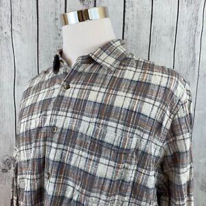Carbon-2-Cobalt-Mens-Multicolor-Plaid-Long-Sleeve-Button-Down-Shirt-Size-XL