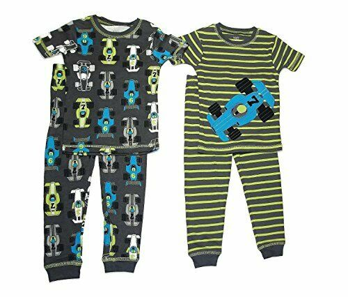 Carter/'s Just One You Toddler Boy/'s 4-Piece Race Car Pajama Pants Set