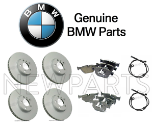 For BMW E70 X5 E71 X6 Front and Rear Disc Brake Pads and Wear Sensors KIT