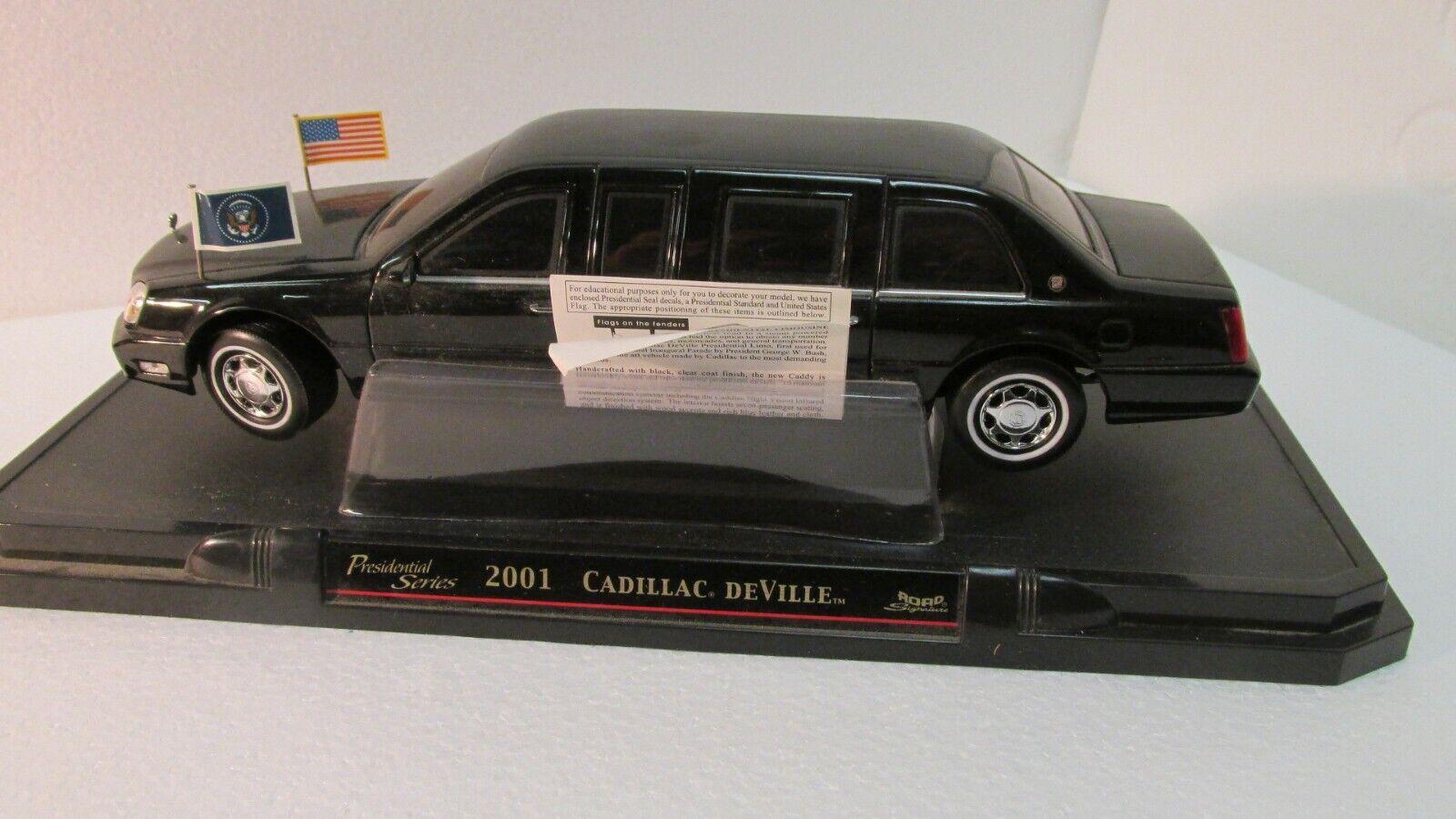 Road Signature Presidential Series 2001 Cadillac DeVille 1 24 Scale Diecast