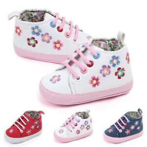 0-12 M Baby Boy Girl Anti-slip Soft Sole Crib Shoes Newborn Sneakers  Prewalker