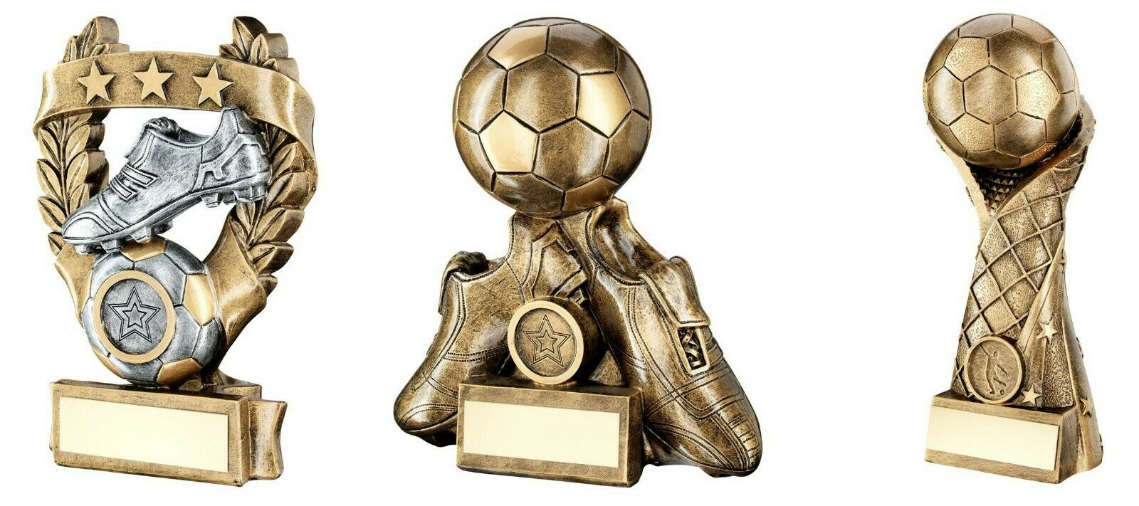 5,6 & 7 inch Football Trophy Awards engraved post free (RRP .99)