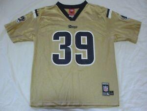 ST. LOUIS RAMS Reebok NFL JERSEY 39 Steven JACKSON Gold Boys Lg ... 2e263ba6e