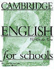 Cambridge English for Schools 2 Workbook by Andrew Littlejohn, Diana Hicks (Paperback, 1996)