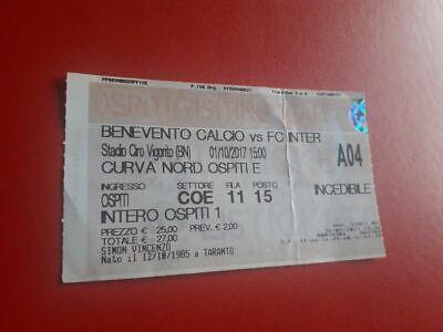 Biglietti Calcio Stadio Benevento Inter 1 10 217 Ebay
