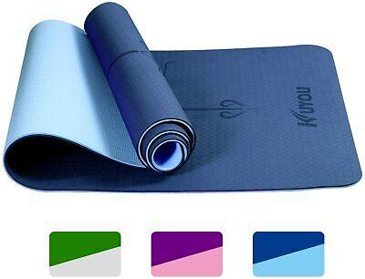 Thick Alignment Eco-Friendly Yoga Mat TPE Carpet-Crossfit Pilates Home Workout