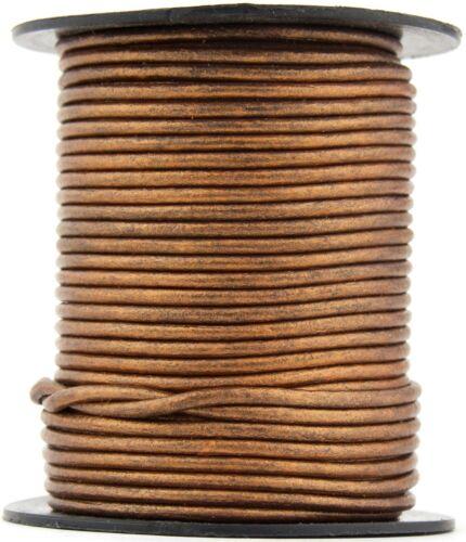 Xsotica® Bronze Metallic Round Leather Cord 1.5mm  10 meters 11 yards
