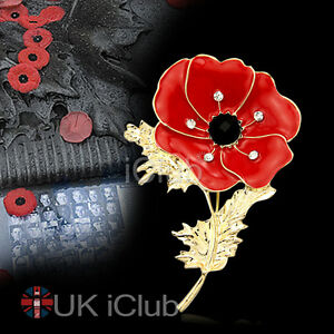 Vintage Poppy Badges Brooch Gold Plated Red Diamante Crystal Pin Badge Broach - <span itemprop=availableAtOrFrom>Gateshead, United Kingdom</span> - 30 Day Satisfaction Exchange Guarantee: If the quality of your purchase does not meet your expectations or your satisfaction, the product ( s ) can be Exchanged only Most purchases from - Gateshead, United Kingdom