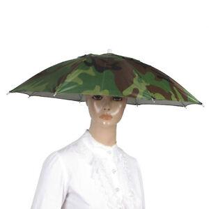 c90e5d3dc40cb Cap Outdoor Sport Sun Rain Umbrella Hat Cap Nylon Umbrella Elastic ...