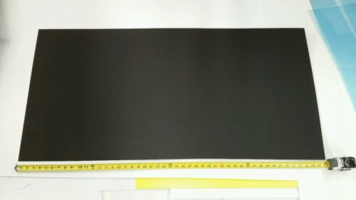"BLACK ABS MACHINABLE PLASTIC SHEET .090/"" X 23 7//8/"" X 48 1//8/"" HAIRCELL FINISH"