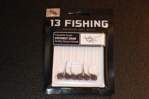 13 Fishing Coconut Crab Potentially Purple Soft Plastics Pack of 6 Ice Fishing