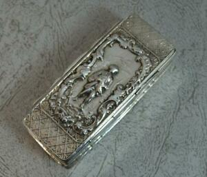 Victorian-Chester-Silver-Elongated-Table-Snuff-Box