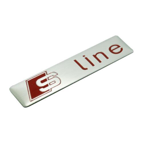 1 Pcs S Line Car Silver Red Alloy Badge Sticker Emblem Universal All Model
