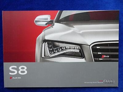 Audi S8 Tfsi 4.0 Quattro 520 Ps Mj 2012 - Prospekt Brochure 09.2011 Auf Dem Internationalen Markt Hohes Ansehen GenießEn