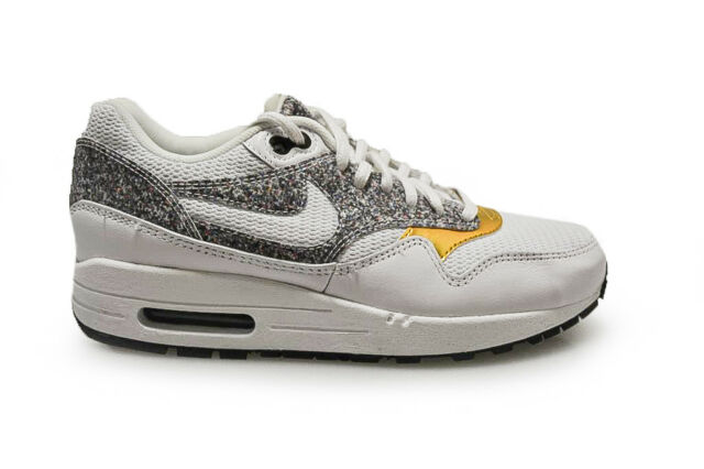 39e29f39189ce WMNS Nike Air Max 1 SE Grey Gold Women Running Shoes SNEAKERS ...