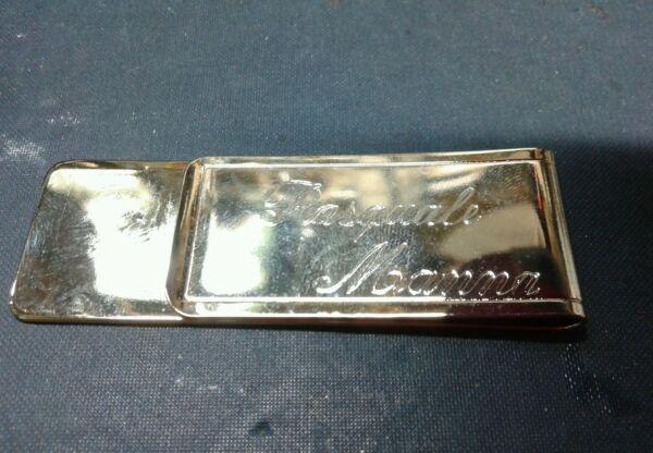 Aus Dem Ausland Importiert Moneyclip Geldklammer Custom Col Ihre Name Handwerk Made In Italien Bad Gold Farben Sind AuffäLlig