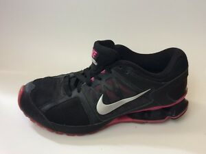 Nike-Womens-8-5-M-Black-Pink-Reax-Run-6-Running-Trainer-Shoes-Sneaker-472647-002