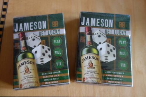 2 DECKS Jameson Irish Whiskey Playing Cards /'08 Collectible GET LUCKY NEW//SEALED