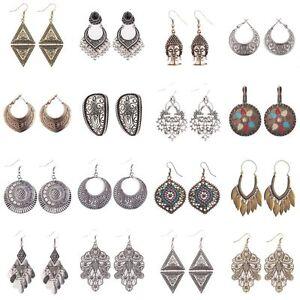 Women-Vintage-Bohemian-Boho-Style-Multilayers-Silver-Gold-Tassel-Hook-Earrings