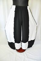 Refined Layering Jersey-balloon Pants°black White° ° Roll Hems48,50,52,54,56