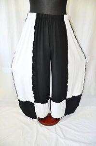 48 Blanc et Rollsäume 52 56 Lagenlook Noir Refined Pantalon 54 50 en jersey xwZXqn8Y