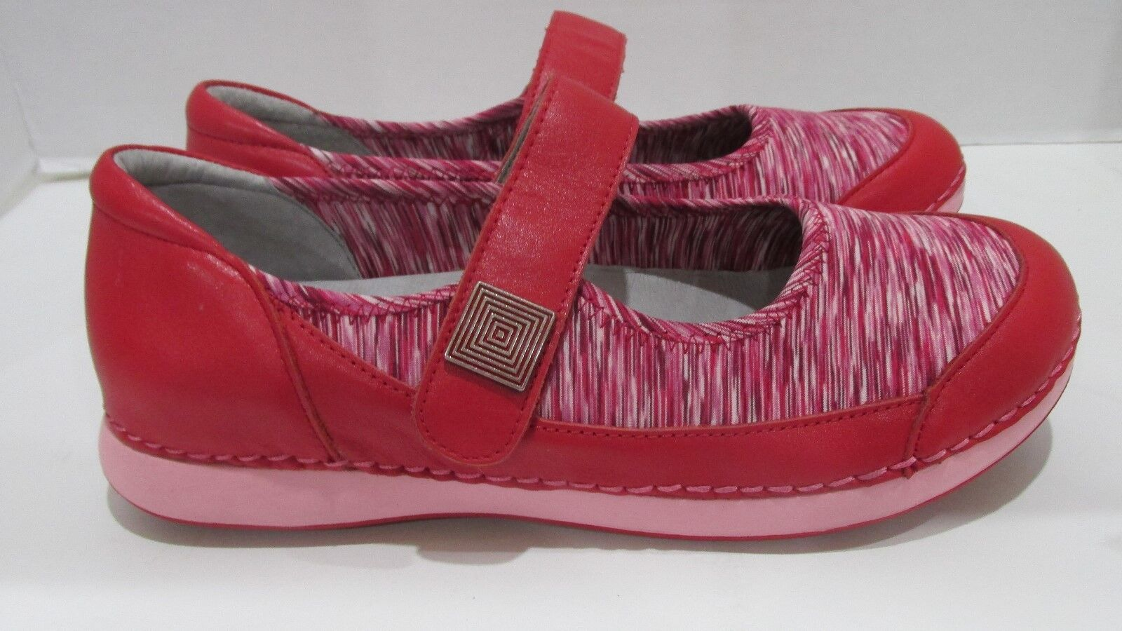 Alegria Leather and Neoprene Slip-On Mary Janes - Gem RED Size EU 39 US 9
