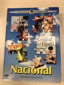 Europa-Collection-Portugese-Foreign-Films-4-DVD-Set-Central-Do-Brasil-Brazilian