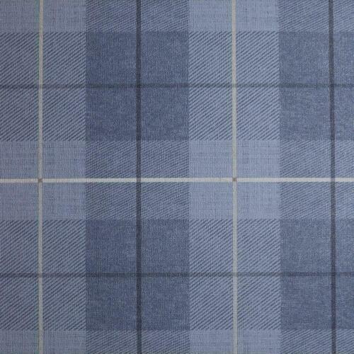 Arthouse Bleu Jean Tartan Tissé Texturé Tissu Carreaux Bleu Marine Papier Peint 294902