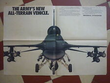 7/1989 PUB GENERAL DYNAMICS F-16 FIGHTING FALCON US AIR FORCE ORIGINAL AD