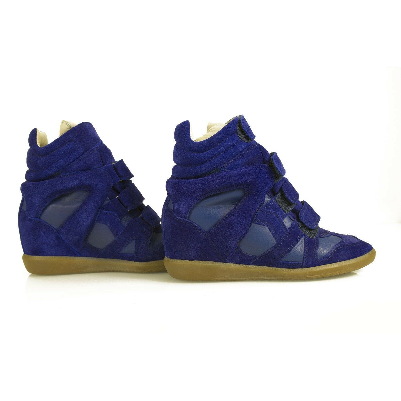 Isabel Marant bluee Americana Over Basket wedge Trainers Sneakers size 39 shoes