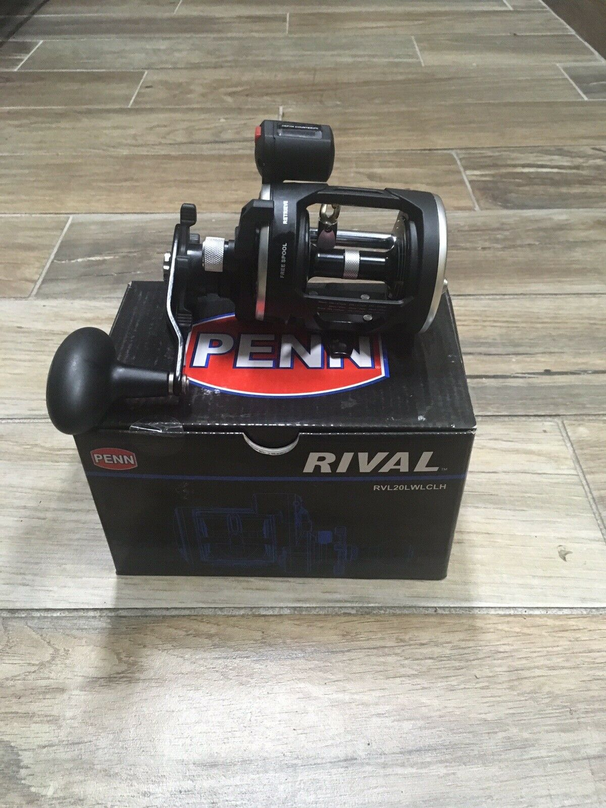 Penn Rival RVL20LWLCLH level wind line counter left  hand conventional reel  best service