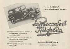 Z1050 Vettura BALILLA - Pneumatici MICHELIN - Pubblicità d'epoca - 1934 Old ad