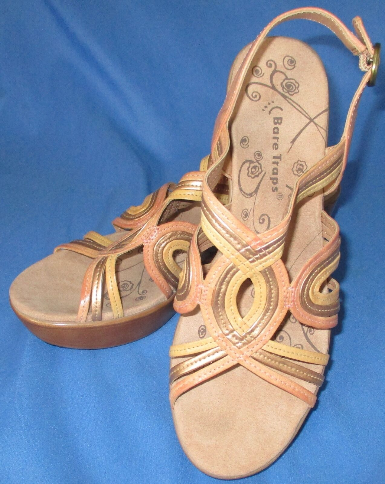 Women's Bare Traps Dangle Heels Sandals Open M Toe Size 8 1/2 M Open 76a54d