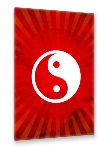 Postereck Leinwand 1769 Entspannung Kreis spirituell Meditation rot Yin Yang
