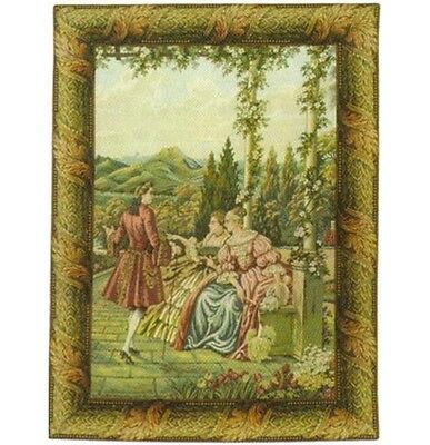 Temple in Lake Como Gardens Elegance Tapestry Wall Hanging