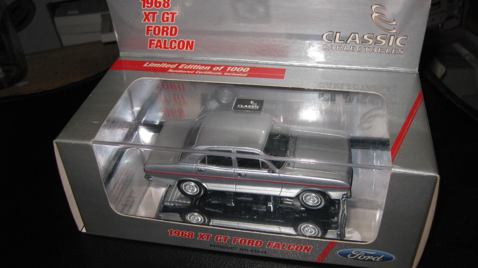 aquí tiene la última CLASSIC CLARLECTIBLES 1 43 FORD FALCON XT GT plata plata plata LTD ED OF 1000 43544 RARE L1  venta al por mayor barato