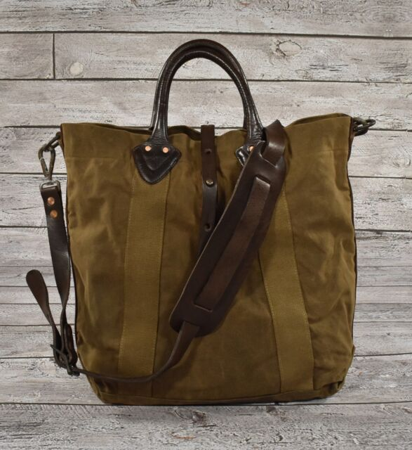 Ralph Lauren RRL Distressed Washed Canvas Leather Tote Bag for sale ... 8b2fe2c33ee95
